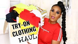 $35 MAX. HUGE WINTER TRY-ON CLOTHING HAUL FT. AFRICANMALL | OMABELLETV