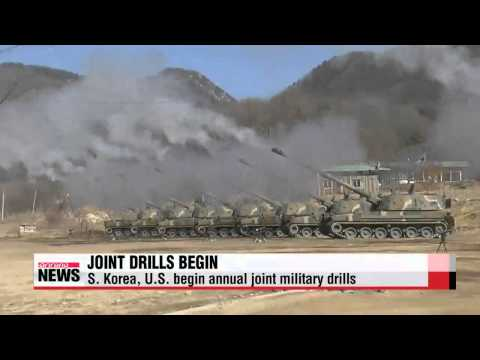N. Korea fires short-range missiles to protest S. Korea-U.S. drills   북, 키리졸브 시작
