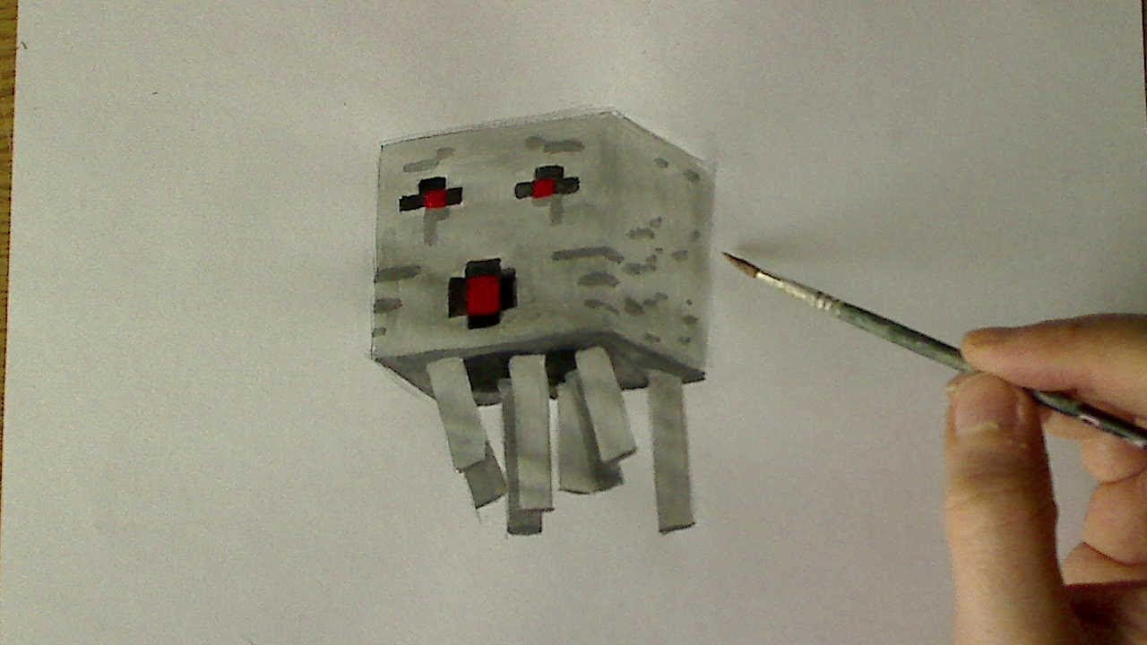 how to drawpaint ghast minecraft youtube