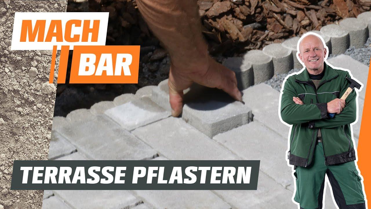 Pflasterstein-Terrasse bauen im Splittbett | OBI