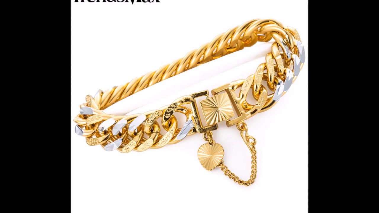 Gents gold bracelet latest designs
