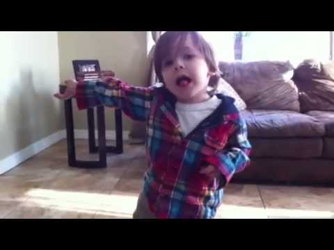 Jayden amazing 4 year old who raps and sings to Knocking on heavens door by Uriah