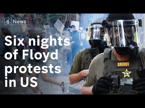 President Trump demands crackdown as protesters and police clash over George Floyd death