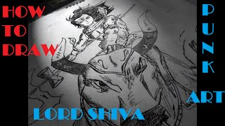 How to Draw : Lord Shiva Punk Art | Anime style