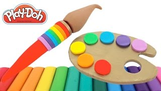 Learn Rainbow Colors with Play-Doh * Creative Fun for Kids with Play Dough Art * RainbowLearning