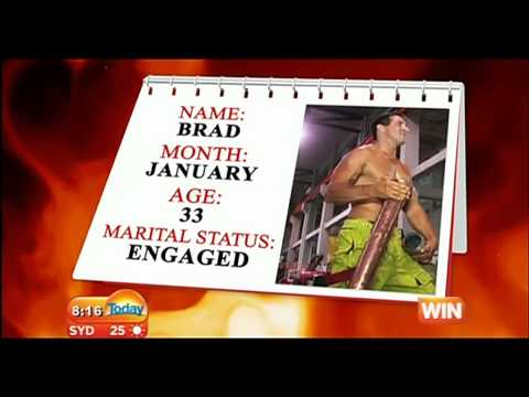 2013 NSW Firefighters Calendar *Behind the Scenes* Photo shoot - Today show October 15th, 2012