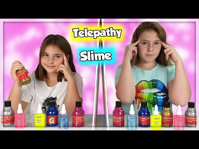 TWIN TELEPATHY SLIME CHALLENGE !
