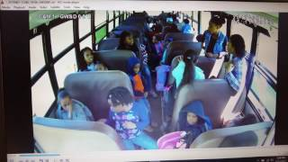 Jaquez White falls from a school bus