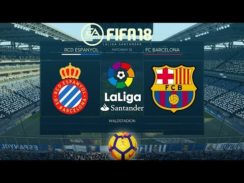 FIFA 18 Espanyol vs Barcelona | La Liga 2017/18 | PS4 Full Match