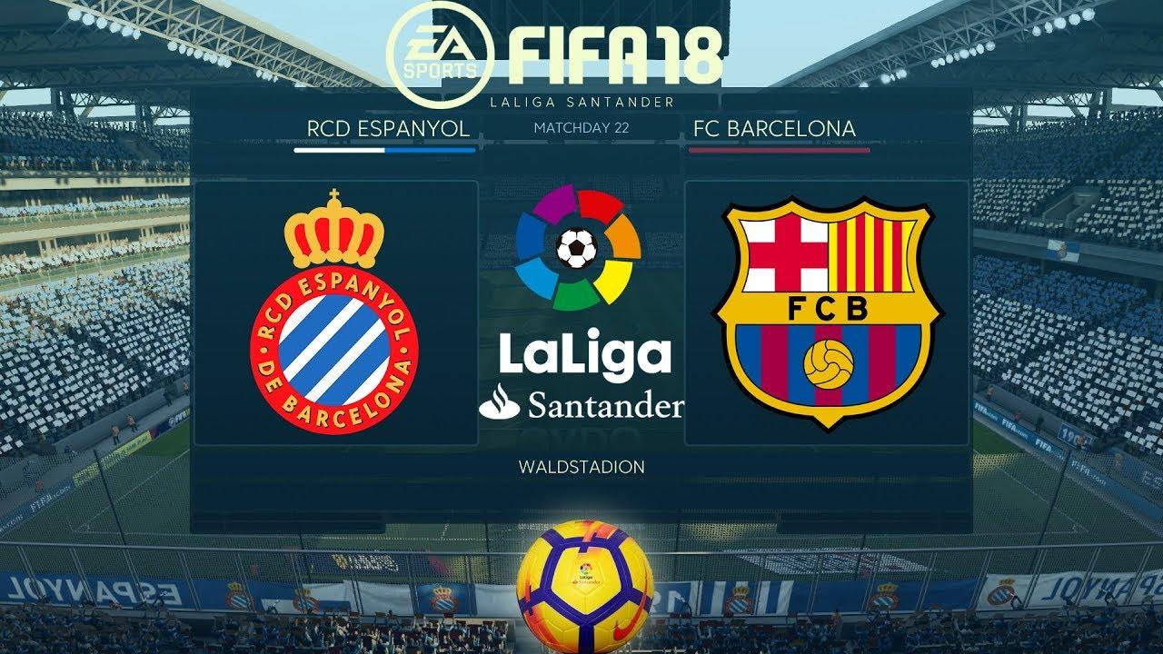 proporcionar una gran selección de Tener cuidado de venta más caliente FIFA 18 Espanyol vs Barcelona | La Liga 2017/18 | PS4 Full Match