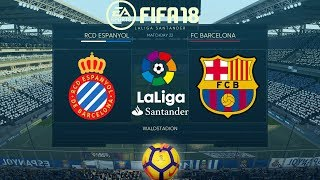 FIFA 18 Espanyol vs Barcelona   La Liga 2017/18   PS4 Full Match