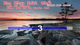 Karaoke Hồ Quảng Em Phụ Lời Thề( Bạch Mai Khúc)