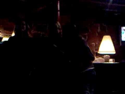 taz, liz, and bex singing at karaoke