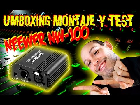 Unboxing, Montaje y Test Phantom Power NEEWER NW-100 Español