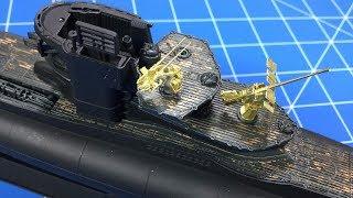 Revell Type VII U-Boat Part 3 (PE Flak & Deck Effects)