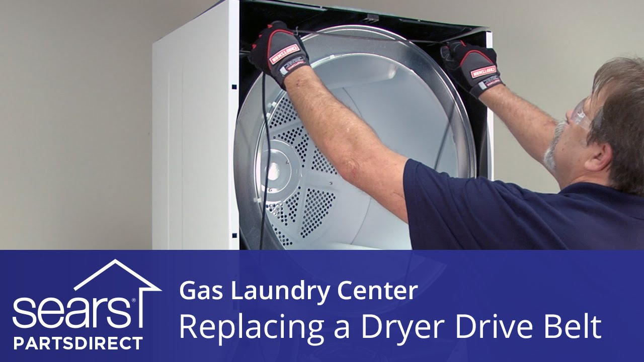 How to Replace a Gas Laundry Center Dryer Drive Belt Kenmore Frigidaire  YouTube
