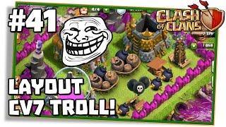 Clash of Clans #41: LAYOUT TROLL PARA CV7 BEM LOUCO E ATAQUES DE DRAGÃO EM GUERRA!
