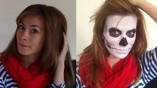 макияж на ХЭЛЛОУИН - Французский скелет/Halloween makeup skeleton(Макияж на ХЭЛЛОУИН - Французский скелет/Halloween makeup skeleton Так же смотрите мое видео