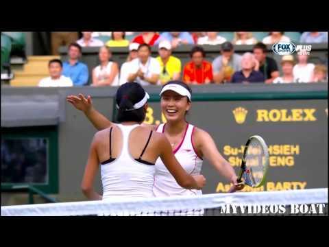 2013 溫布頓女雙決賽Wimbledon Final 謝淑薇、彭帥 VS Ashleigh Barty,Casey Dellacqua Part4