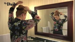 How to get an updo look for your hair | MyDaily Advent Calendar Thumbnail
