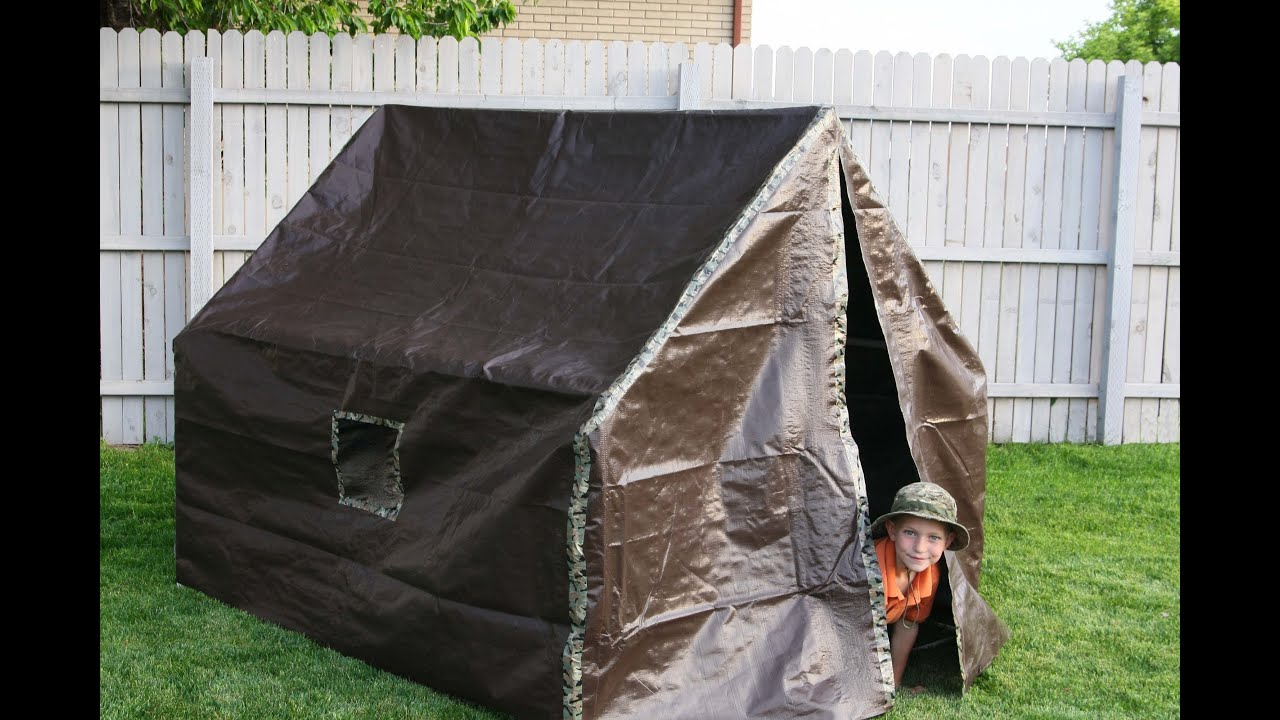 sc 1 st  YouTube & How To Make A Play Tent - YouTube