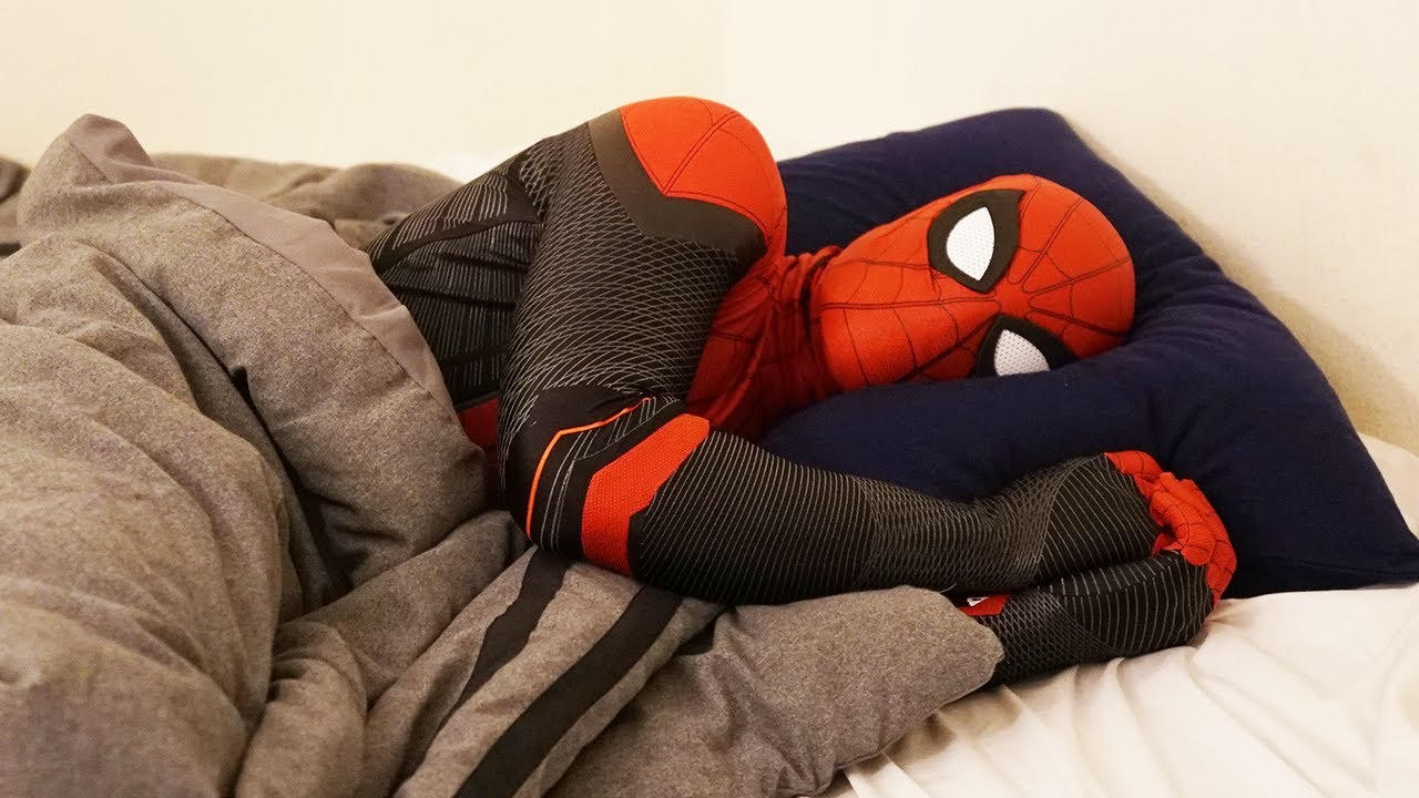 Spiderman's Bedtime Routine In Real Life