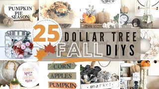 🍂25 Dollar Tree FALL  DIYS | DOLLAR TREE FALL 2020 | The Best of FALL DECOR