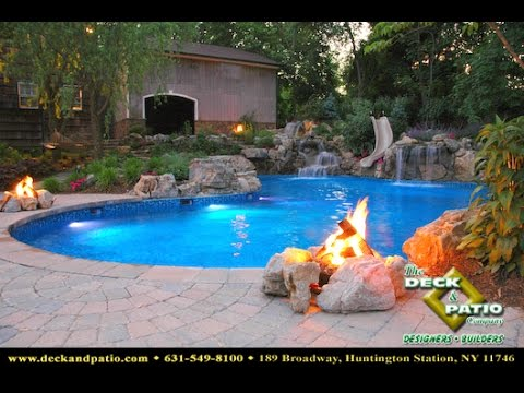 HOUSE TV feature Deck and Patio Company award winning vinyl swimming pool with bar stools