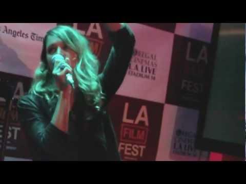 LA Film Festival...guest blow off steam on Karaoke stage! You go, girl!