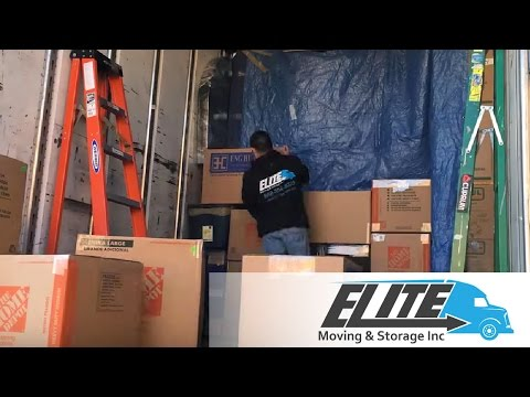 Elite Moving And Storage - Long Distance Moving Company - Trailer Loading