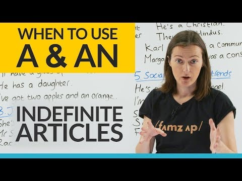 "When to use ""A"" or ""AN"" in a sentence... and when NOT to! (Indefinite Articles)"