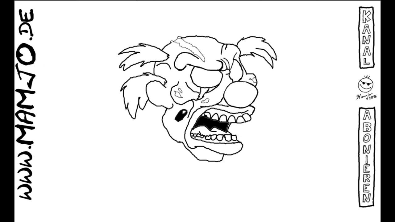 es clown zeichnen  malvorlagen gratis