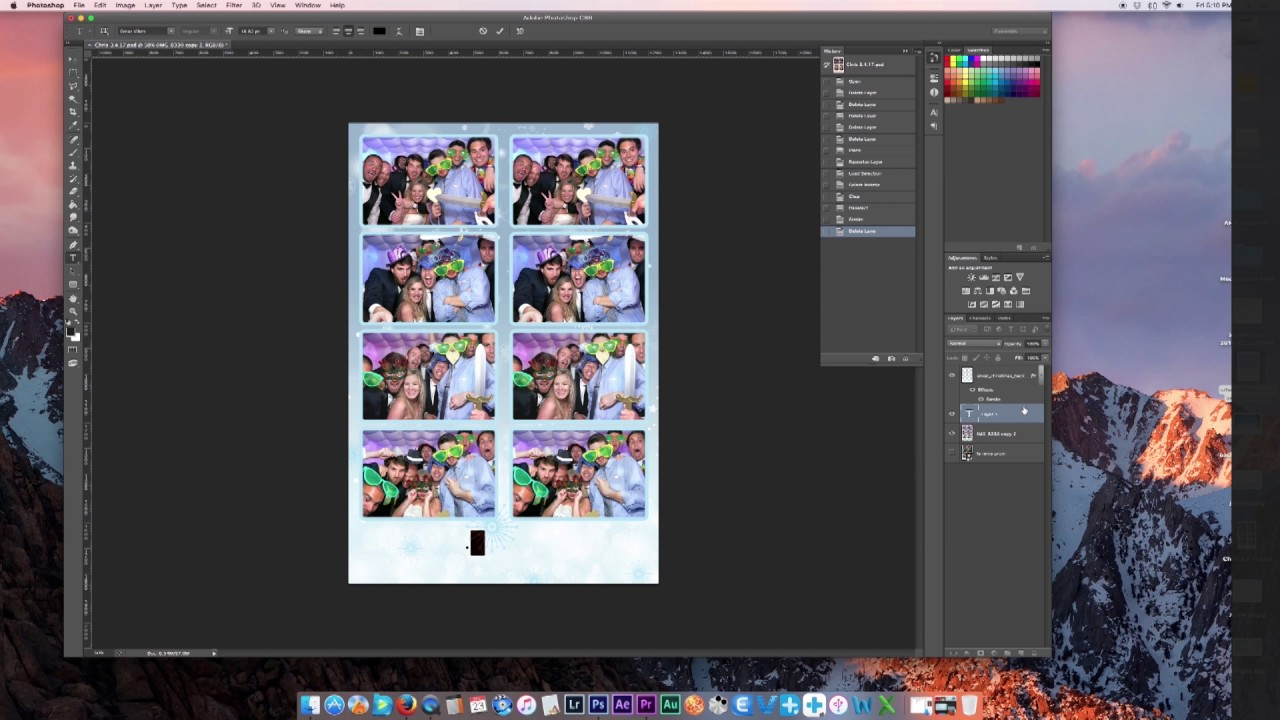 How To Make A Photo Booth Template In Photoshop New 2016 Youtube