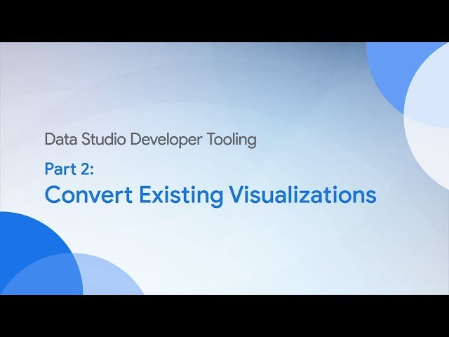 Community Visualizations: Converting Existing Visualizations