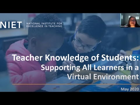 Teacher Knowledge of Students: Supporting All Learners in a Virtual Environment