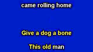 This Old Man, Karaoke video with lyrics, Instrumental version