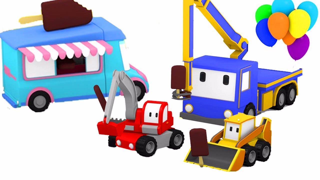 le camion de glace apprendre avec tiny trucks bulldozer grue tractopelle dessin anim. Black Bedroom Furniture Sets. Home Design Ideas