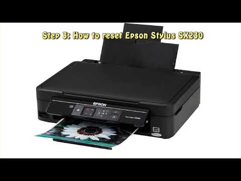 Reset Epson Stylus SX230 Waste Ink Pad Counter