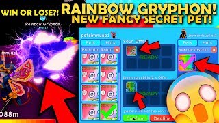 NEW RAINBOW GRYPHON! 🙀 SECRET PET! FOR MY PATRIOTIC ROBOT 🤖 OP! 😍♥ IN ROBLOX BUBBLE GUM SIMULATOR