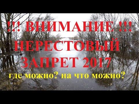 запрет на ловлю спиннингом в московской области 2017
