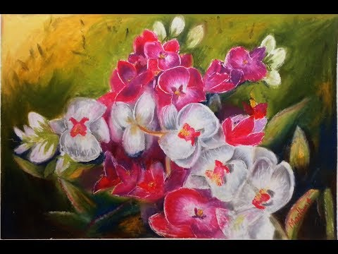 Orchids – Oil Pastel Painting Lesson