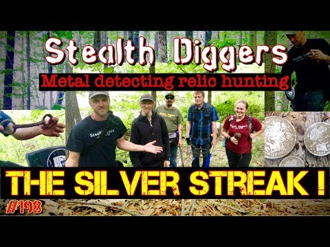 #198 The silver streak - Coin spill found Metal detecting abandoned farm NH