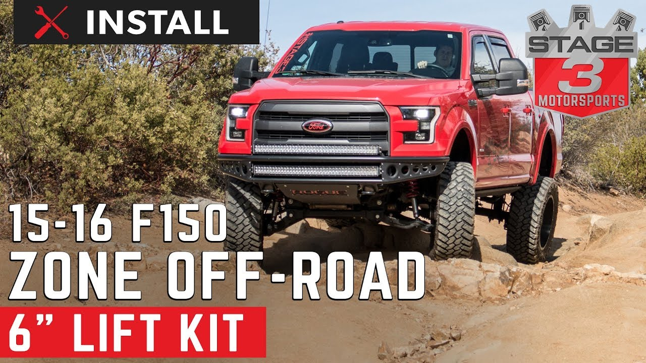 6 Inch Lift Kit For Ford F150 4X4 >> 2015 2016 F 150 4wd Zone Off Road 6 Inch Suspension Lift Kit Install