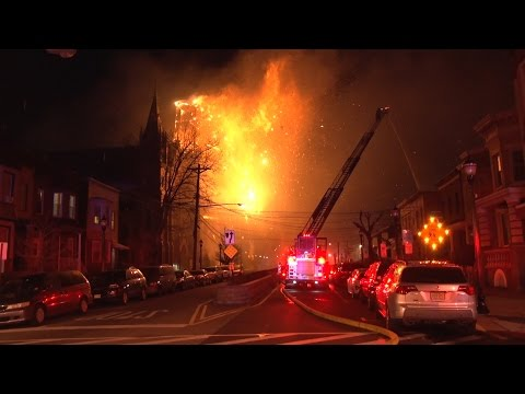 Union City (2) Working Fires - (Church Steeple Collapse) March 4, 2017