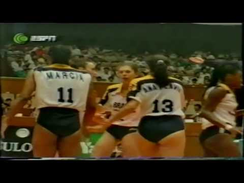 1995 Women Volleyball World Grand Prix Cuba Brazil Shanghai Final