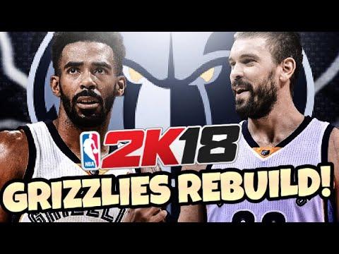 REBUILDING THE MEMPHIS GRIZZLIES!! NBA 2K18 MY LEAGUE!!