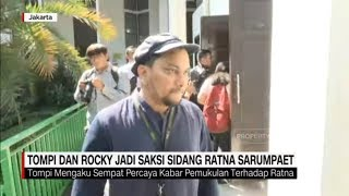 Saat Tompi & Rocky Gerung Bersaksi di Sidang Ratna Sarumpaet