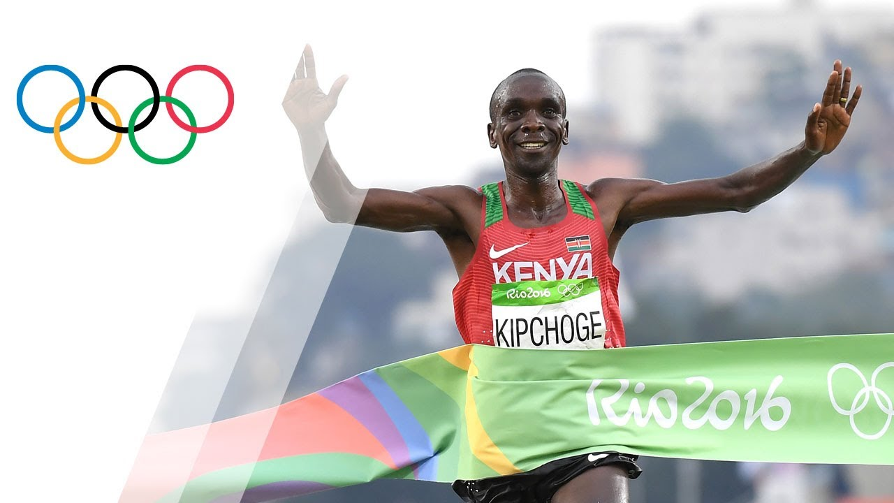 Eliud Kipchoge wins Men's Marathon gold - YouTube