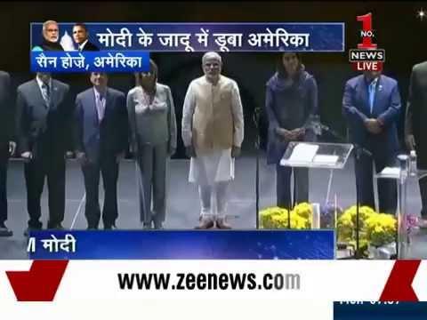 PM Modi addresses Indian community at SAP Centre in San Jose