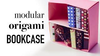 Modular Origami Bookcase Tutorial